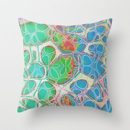 Modern Abstract Painting Ten Throw Pillow
