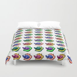 Colorful Betta Duvet Cover