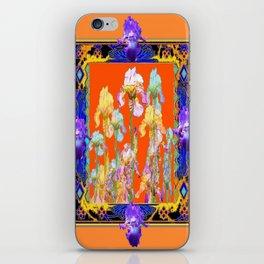 Ornate Cumin Color Purple Iris garden Design iPhone Skin