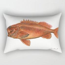 Vermilion Rockfish - Fish artwork watercolor Rectangular Pillow