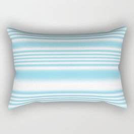 Sky Blue and White Stripes Rectangular Pillow
