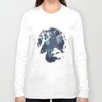 kodama Long Sleeve T-shirts featuring kodama Spirit by Robson Borges