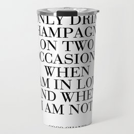 CHAMPAGNE SIGN Party Decoration But First Champagne Celebration Of Life Champagne Gifts Party Travel Mug
