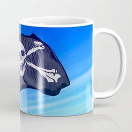 Pirate skull and crossbones flag waving on the wind Coffee Mug