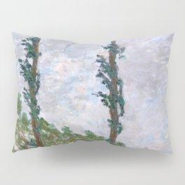1891-Claude Monet-Wind Effect, Series of The Poplars-74 x 105-65 x 100 Pillow Sham