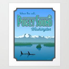 "Landmarks of Life: Puget Sound (16"" x 20"") Art Print"