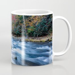 Fall in the Smokies - Autumn Colors at Laurel Creek in Smoky Mountains Coffee Mug