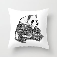 Panda Chillin Throw Pillow