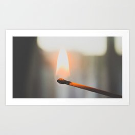 Lit Match Art Print