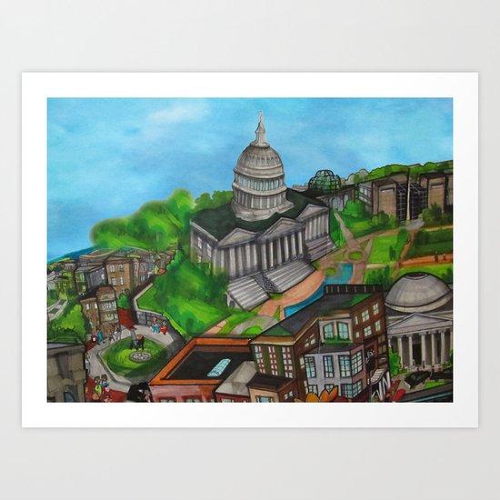 The Capitol Building - DC 2011 Art Print