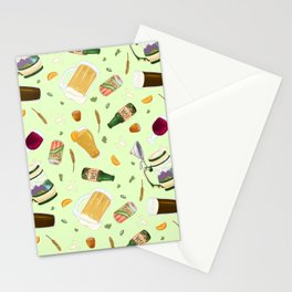 Cute Beer Pattern Stationery Cards