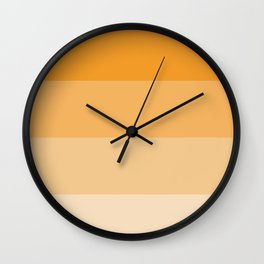 Orange Ombre Coloured Wall Clock