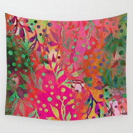 Tropical Summer colorful botanical pattern Wall Tapestry