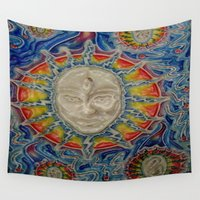 third eye Wall Tapestries featuring The Third Eye by Nicholas Bremner - Autotelic Art