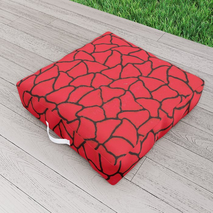 Infinity nets by Yayoi kusam Outdoor Floor Cushion