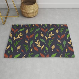 Leaf seamless pattern Rug
