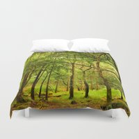 spiritual Duvet Covers featuring Spiritual Forest  by Gypsy Angel Studio
