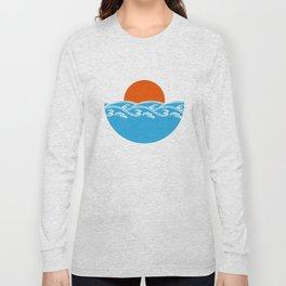 Japanese Tsunami  Long Sleeve T-shirt