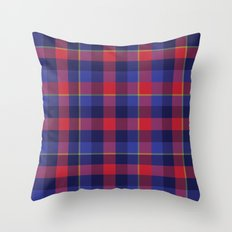 Red and Blue plaid Throw Pillow