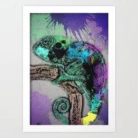 iggy Art Prints featuring Iggy  by Sofia Gerona