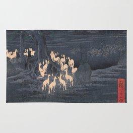 Utagawa Hiroshige - New Year's Eve Foxfires at the Changing Tree Rug