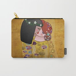Kokeshis Lesbians The kiss of Klimt Carry-All Pouch