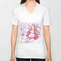 bee and puppycat V-neck T-shirts featuring Bee & puppycat ver 2 by Kurodoj