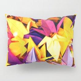 Senbazuru | purples n yellows Pillow Sham