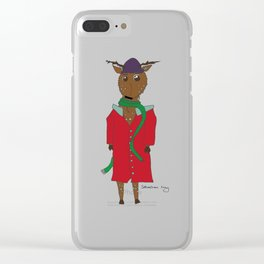 Diego the Deer in Winter Clear iPhone Case