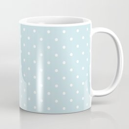 Small White Polka Dots On Baby Blue Background Coffee Mug
