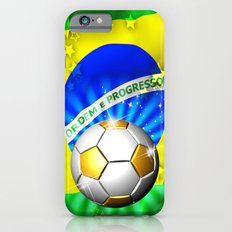 Brazil Flag Gold Green and Soccer Ball Slim Case iPhone 6s