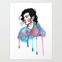 matty healy Art Prints featuring Matty by The vintage icon