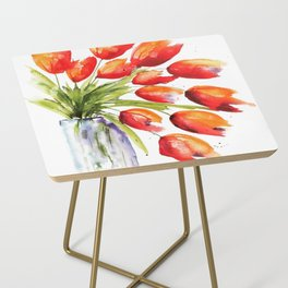 Tulips Overflowing Side Table