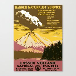 Vintage Lassen Volcanic National Park Canvas Print