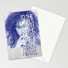 Messy hair &  thirsty hearts Stationery Cards