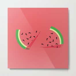 Watermelon Ween Metal Print