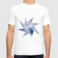 Cloudscape I MEDIUM White Mens Fitted Tee