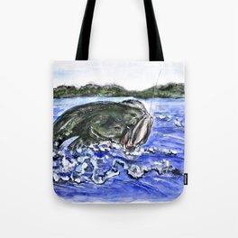 Jumping Bass Tote Bag
