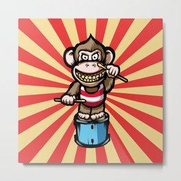 Ape Drummer Metal Print