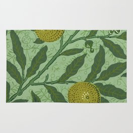 William Morris - Wallpaper Sample With Lemons And Branches. Rug