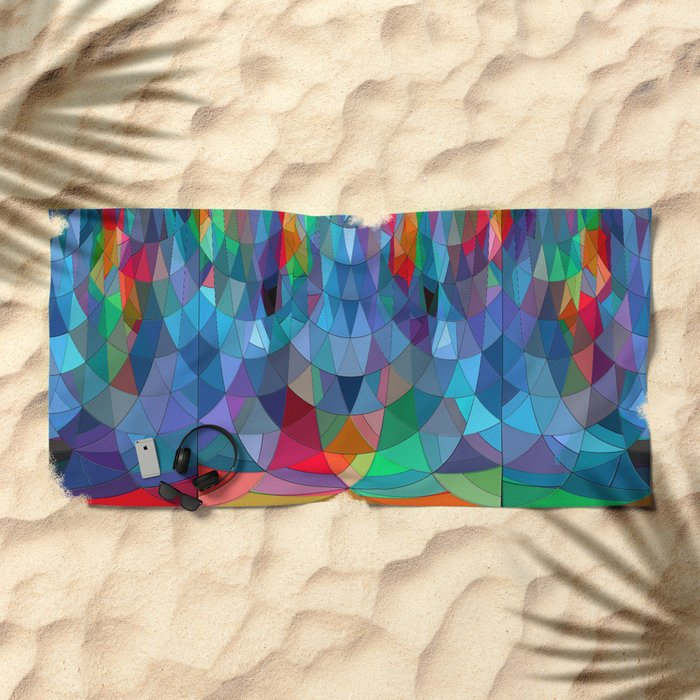 The Many Colors of the Mermaid.... Beach Towel