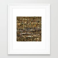 library Framed Art Prints featuring Library by Christian Webb