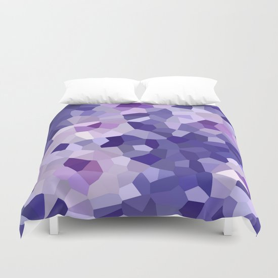 abstract floral in blue and purple shades Duvet Cover