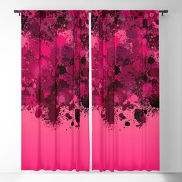 paint splatter on gradient pattern mag Blackout Curtain