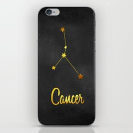 Cancer Zodiac Constellation in Gold iPhone Skin