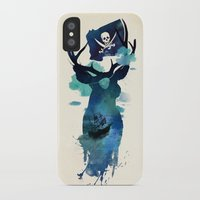 captain hook iPhone & iPod Cases featuring Captain Hook by Robert Farkas
