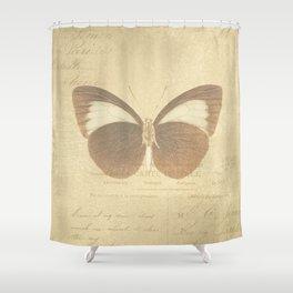 Vintage Paris Butterfly Shower Curtain
