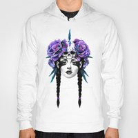 roses Hoodies featuring New Way Warrior by Ruben Ireland