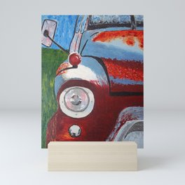Red Over Cab Truck Mini Art Print