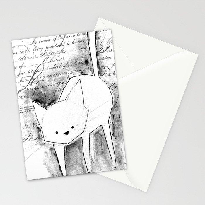 minima - deco cat Stationery Cards